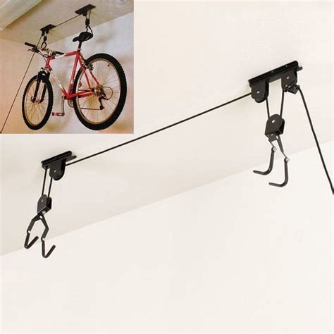 ceiling mount bicycle lift storage hook new bike bicycle lift ceiling mounted hoist storage hanger