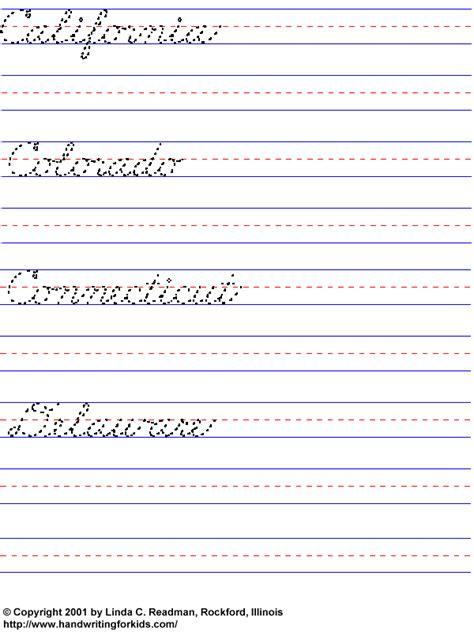 Cursive Handwriting Lessons  Hand Writing