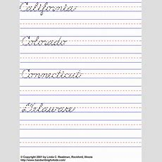Cursive Handwriting Exercises  Hand Writing