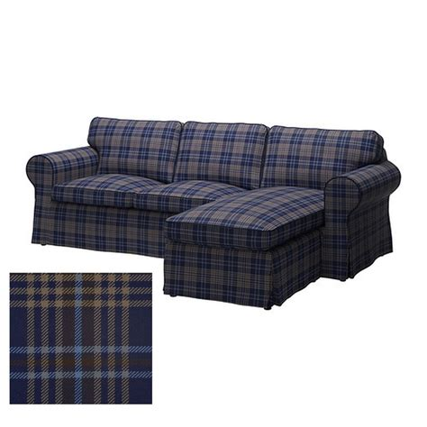 ikea ektorp loveseat with chaise cover slipcover rutna