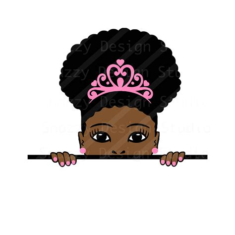 This opens in a new window. Peek-a-boo svg Afro puff girl svg Peeking svg Black | Etsy