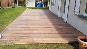 Eclairage Terrasse Bois : terrasse bois avec eclairage integre ~ Melissatoandfro.com Idées de Décoration