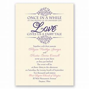 does your love feel like a fairy tale show it with this With wedding invitation wording arrival time