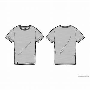 T shirt template vector design download at vectorportal for T shirt template with model