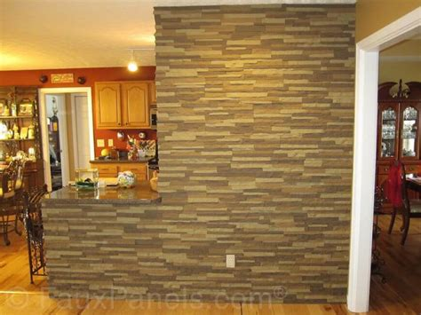 accent wall ideas for kitchen 30 faux brick and rock panel ideas pictures