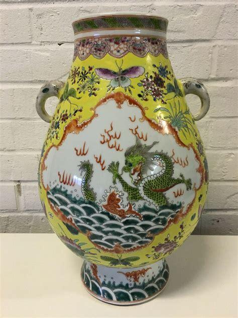 Porcelain Vase by Antique Qing Republic Porcelain Vase 5 Claw