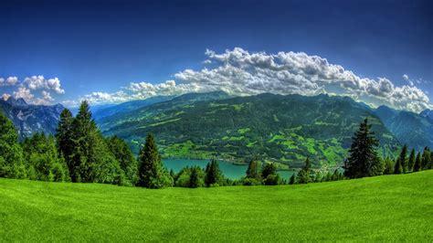 mountain wallpaper lush green grass mountain full hd