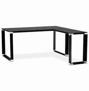 Bureau D Angle But : bureau d 39 angle design xline en verre noir bureau de direction ~ Teatrodelosmanantiales.com Idées de Décoration