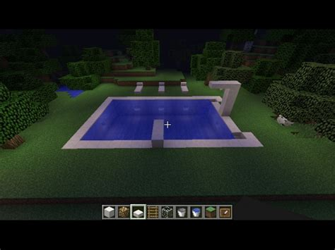 beautiful modern swimming pool  minecraft