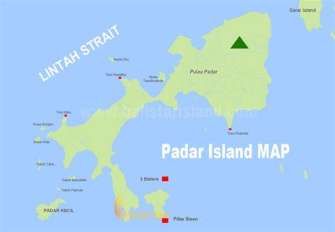 padar island map komodo national park tourism maps