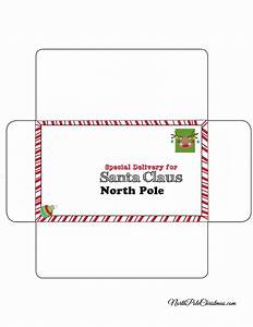 envelope for letter to santa rudolph stamp theme With christmas letter envelopes