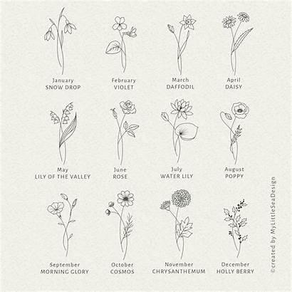Birth Flowers Month Svg Clip Flower Floral