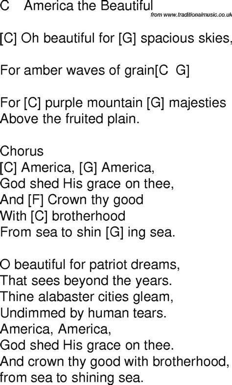 time song lyrics  chords  america  beautiful