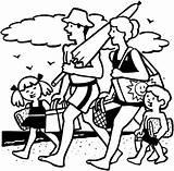 Picnic Beach Coloring Vacaciones Vakantie Dibujos Kleurplaten Colorear Kleurplaat Urlaub Dibujo Liburan Wakacje Malvorlagen Animasi Bewegende Mewarnai Colorare Ferien Bild sketch template