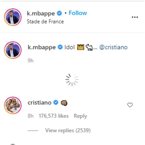 Kylian Mbappe Shares Picture With 'Idol' Cristiano Ronaldo ...