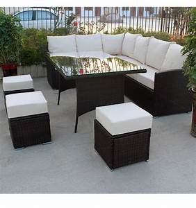 9 seater rattan corner garden furniture sofa set and With 9 seater sectional sofa