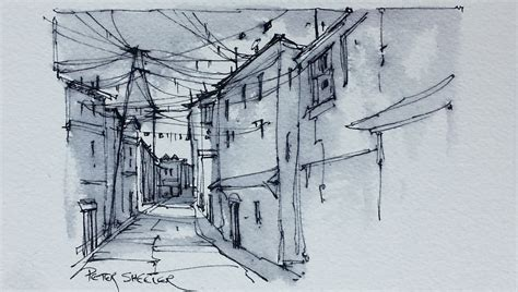 where to get ink an alley sketch water soluble ink with pen