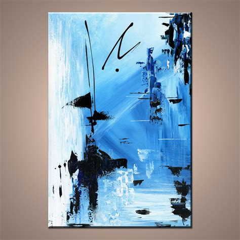 Abstract Black And Blue Painting by Quot Let Go Quot Modern Abstract Painting Nicholas