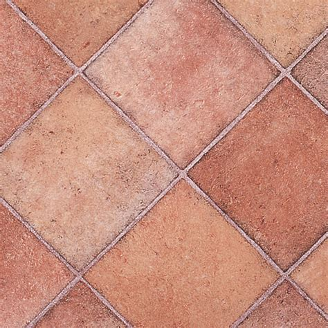 TERRACOTTA DIAMOND TILE RHINOFLOOR VINYL FLOORING SLIP