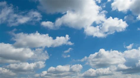 Sky. White Clouds And Bright Sun. High And Big. Scope And