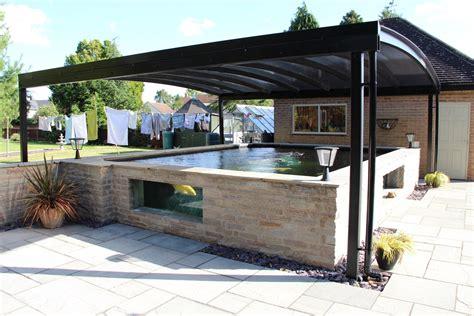 Carport : Koi Pond Canopy Installed In Derbyshire