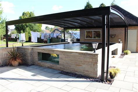 Koi Pond Canopy Installed In Derbyshire  Kappion Carports