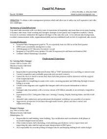resume summary of qualifications customer service 43 creative catering sales manager resume sles for job seekers vntask com