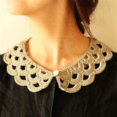 [Envelope online shop] Crochet pattern  crochet collar
