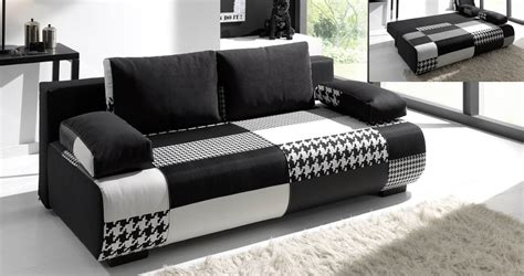 canapé tissu convertible 3 places deco in canape 3 places convertible en tissu noir