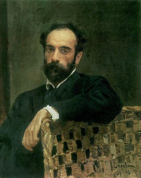 Valentin Serov (1865 - 1911) - Portrait of the artist ...