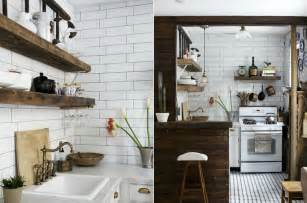 industrial style kitchen islands house tour mix wood and white for a crisp industrial