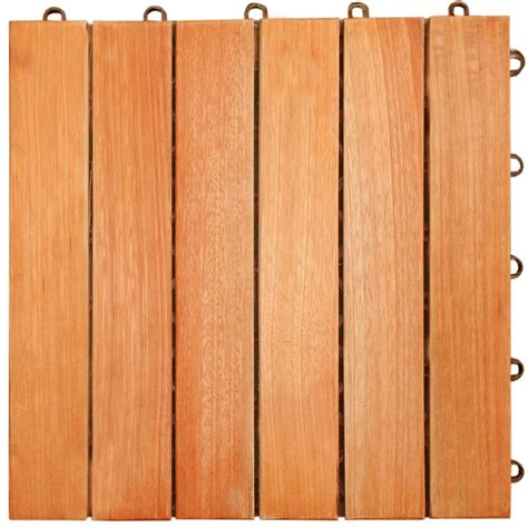 vifah 174 eucalyptus horizontal 6 slat interlocking wood