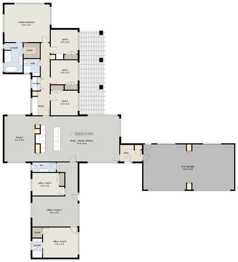 Zen Lifestyle 1, 6 Bedroom - HOUSE PLANS NEW ZEALAND LTD