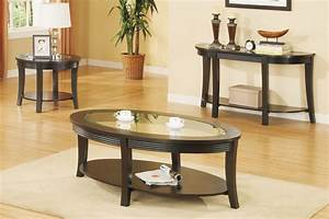 3 piece living room glass table set With glass coffee table and end tables set