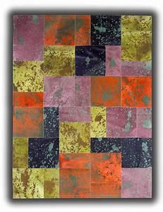 tapis en peau de vache colore patchwork paterna With tapis en patchwork