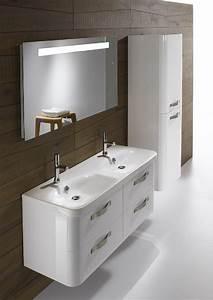 Meuble Double Vasque Suspendu : meubles de salle de bains suspendus double vasque en ceramique jacob delafon magasin pour ~ Melissatoandfro.com Idées de Décoration
