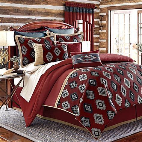 red california king comforter sets buy remington lodge cabot california king comforter set in from bed bath beyond