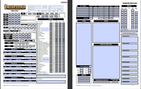 pathfinder templates pathfinder character sheet printable all about letter exles