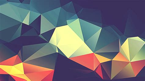 Wallpaper Triangles, Colorful, HD, Abstract, #5505