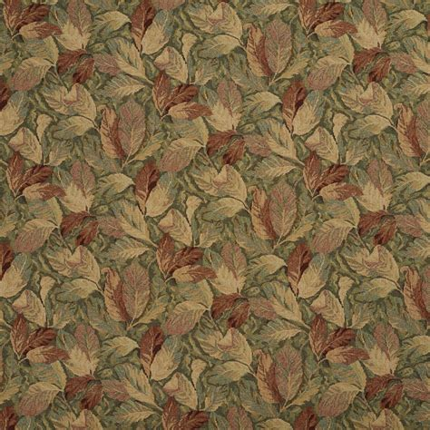 Tapestry Material Upholstery by Burgundy And Green Floral Leaves Tapestry Upholstery