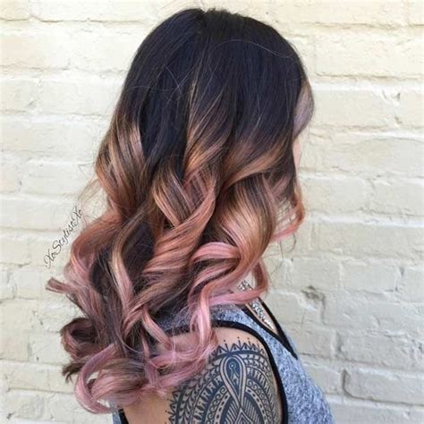 trendy rose gold hair color ideas rosegold hairstyle