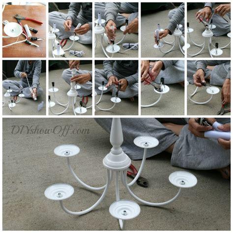diy fabriquer un lustre chandelier pots de fleurs floriane lemari 233