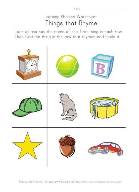 rhyming worksheets for kindergarten students 1000 images