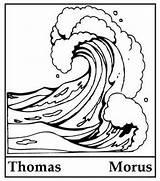 Tsunami sketch template