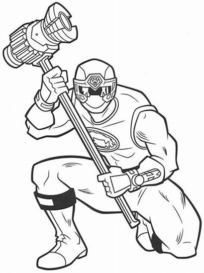 Rangers Power Coloring Pages Printable Ranger