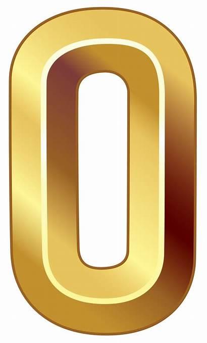 Number Zero Clipart Numbers Transparent Symbol Numero