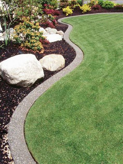 edging concrete landscape bed garden lawn borders edge landscaping yard stamped curb curbing neat mulch cement gardens border flower diy