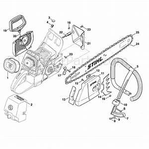 Stihl Ms 460 Chainsaw  Ms460  Parts Diagram  Rescue Saw Usa