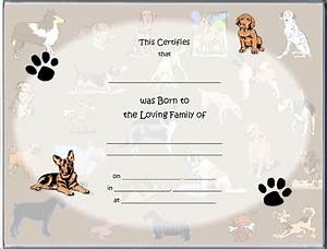birth certificate blank printable joy studio design With free dog birth certificate template