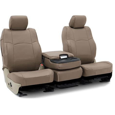 coverking polyvinyl seat covers set front  tan